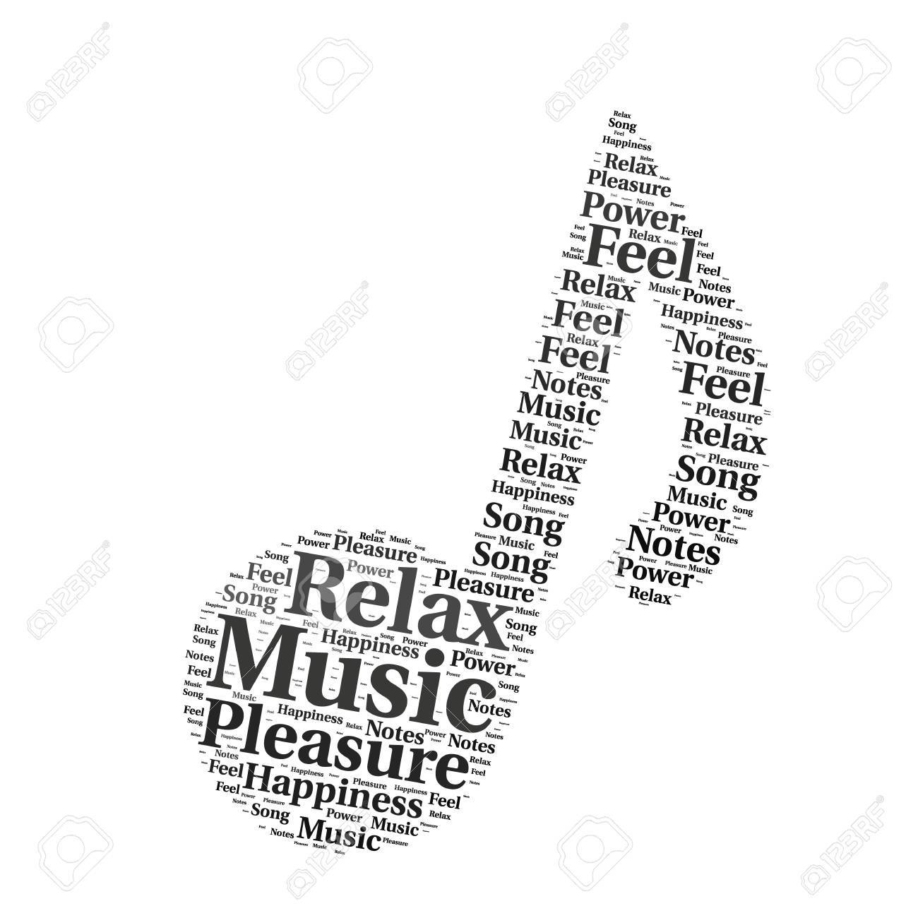 Word Cloud Sharp Design Music Notes Stock Photo Picture And Royalty
