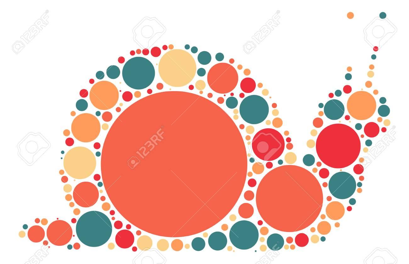 Diseño Caracoles Forma De Punto De Color Ilustraciones Vectoriales ...