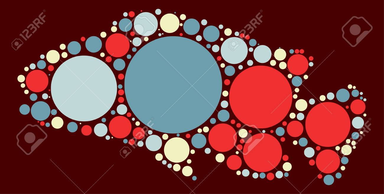 Fish Shape Vector Design By Color Point Royalty Free Cliparts ...