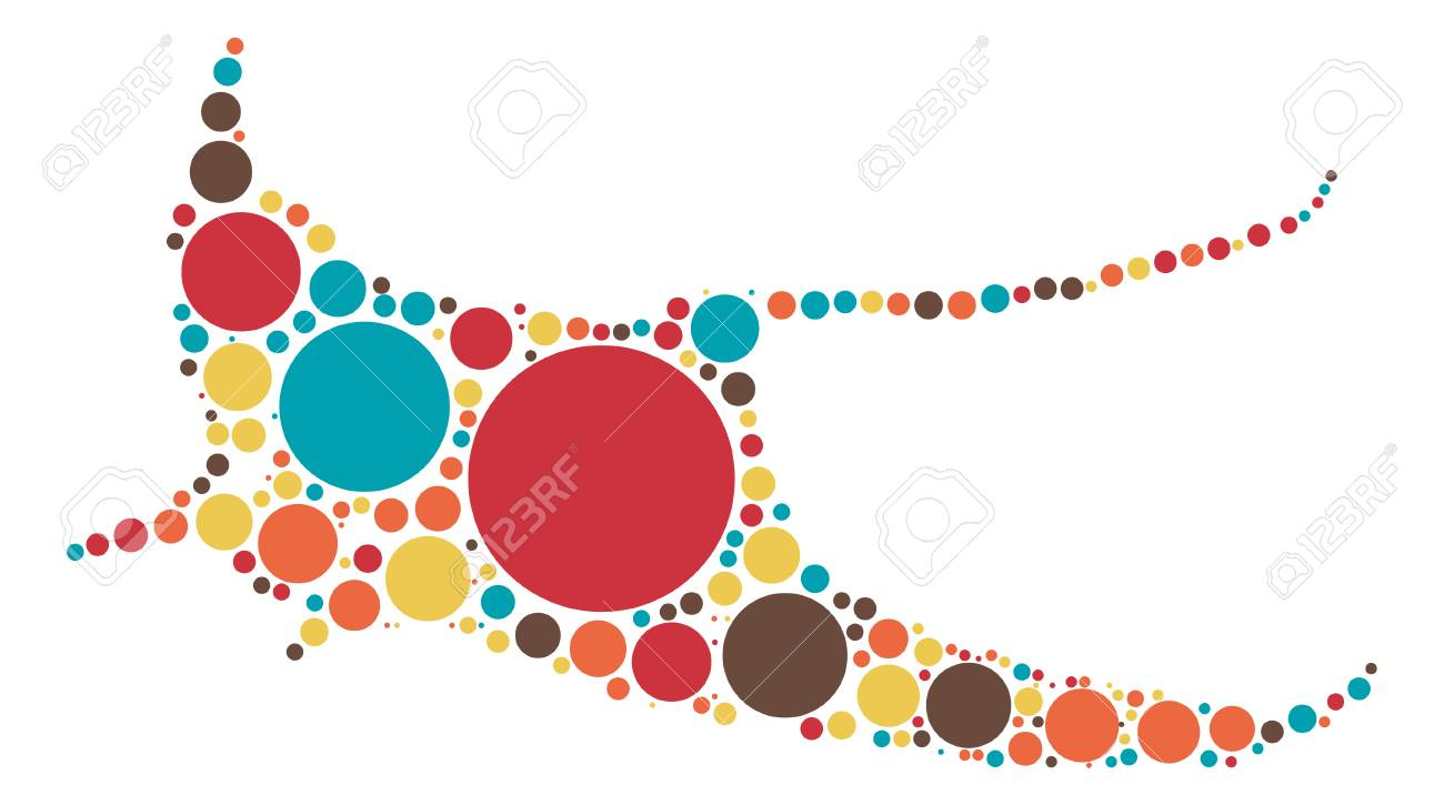 Ocean Fish Shape Design By Color Point Royalty Free Cliparts ...
