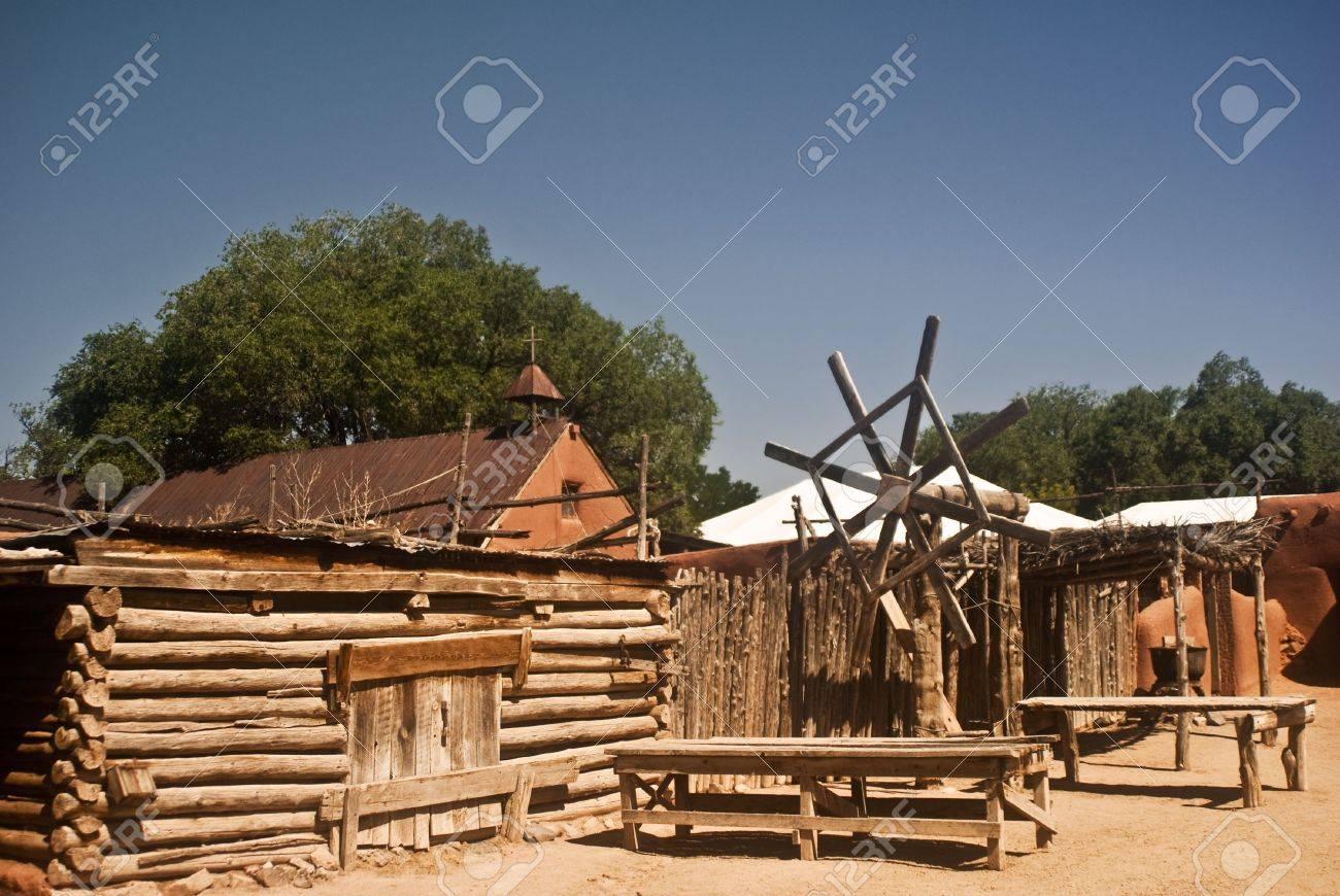 Old New Mexico Village Stock Photo - 7606680