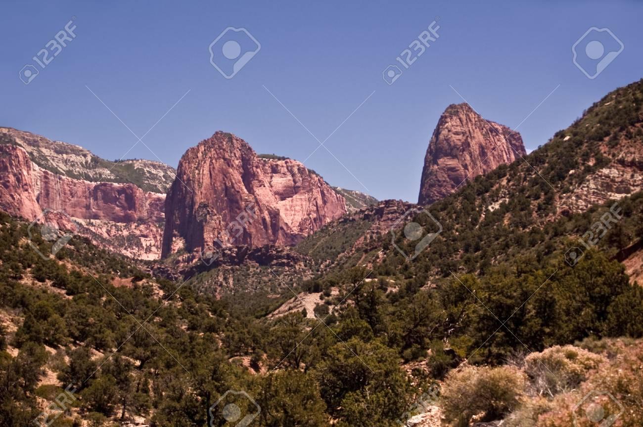 Zion Canyon Peaks Stock Photo - 7606681