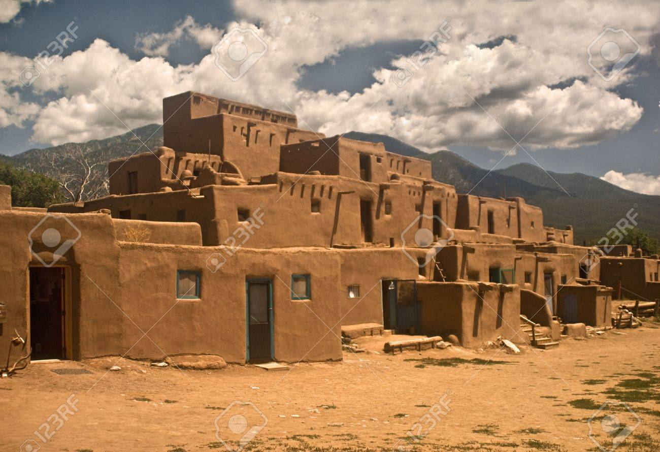 Taos Pueblo - North Section Stock Photo - 7757489