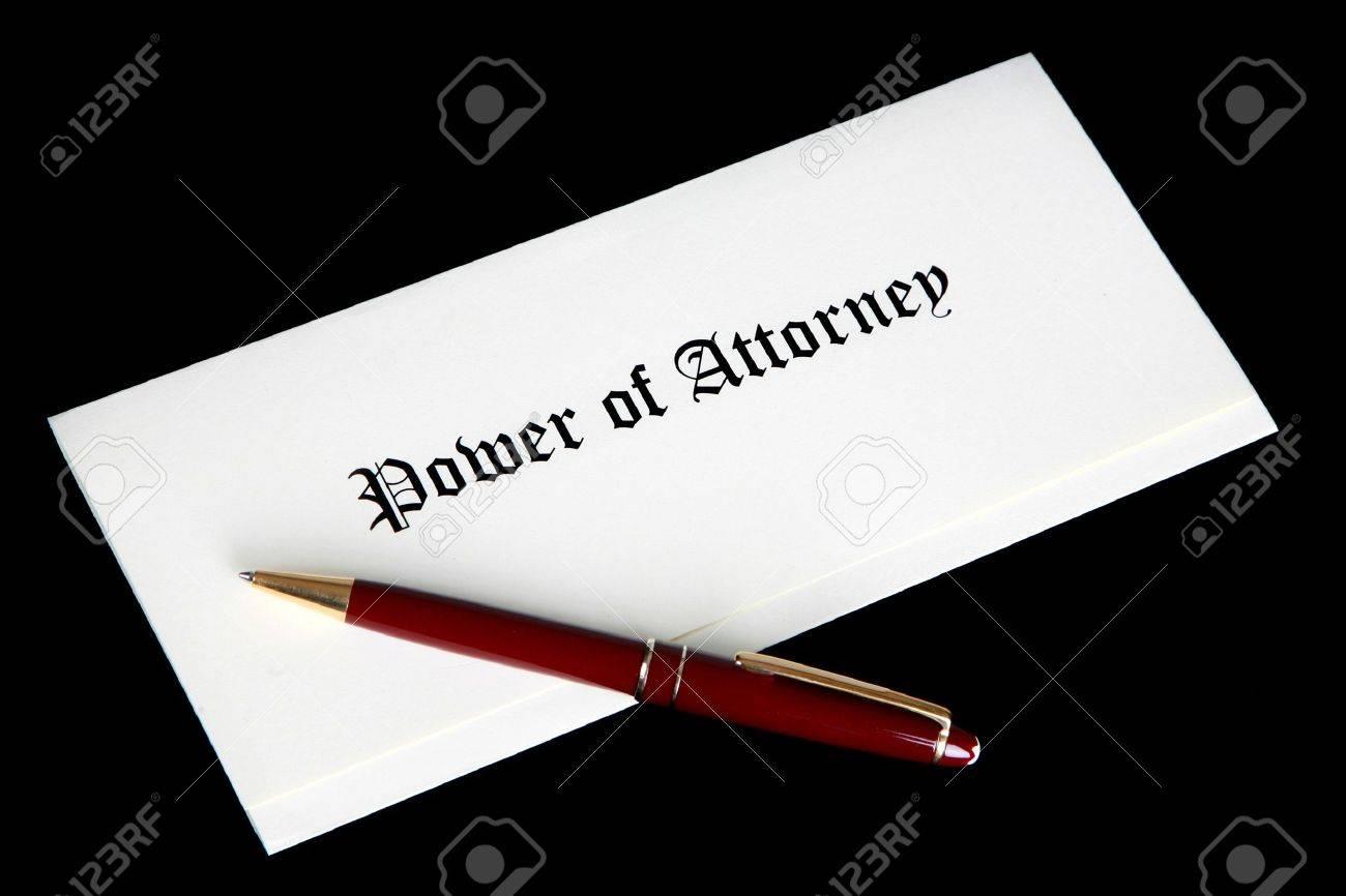 Power of Attorney document Stock Photo - 6291331