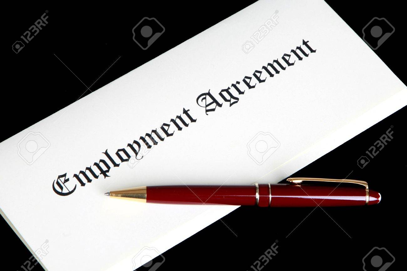Employment Agreement Or Contract Photo Picture And Royalty – Employment Agreement