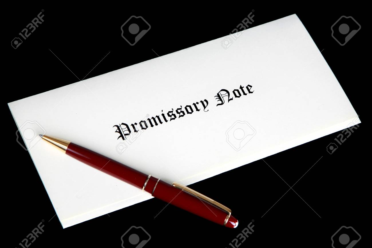 Promissory note or loan document Stock Photo - 6337835