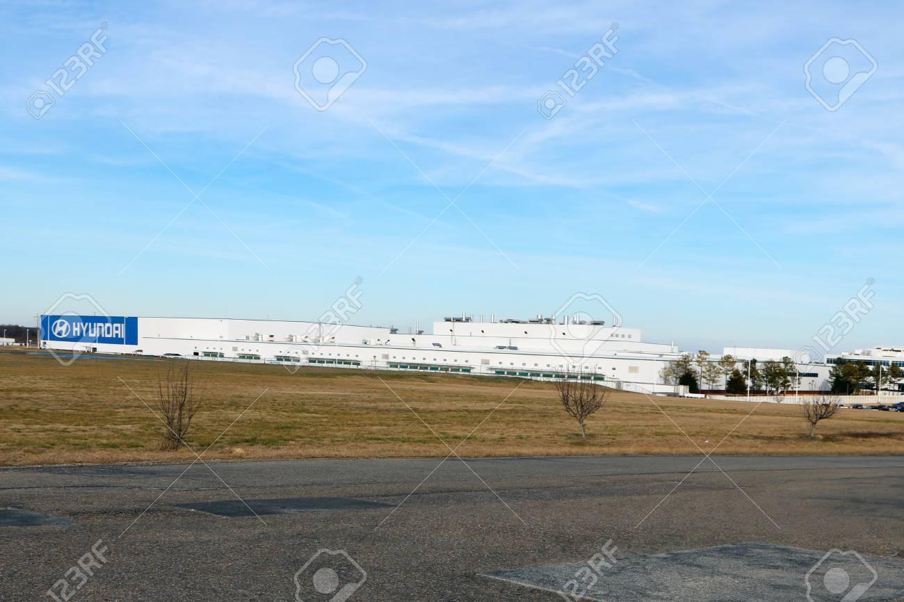 MONTGOMERY, AL CIRCA JANUARY 2015: Hyundai Assembly Plant In Montgomery,  Alabama.