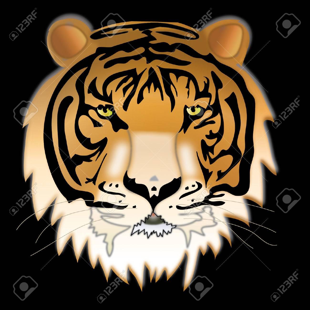 Wild thing. Siberian tiger. Stock Vector - 6913161