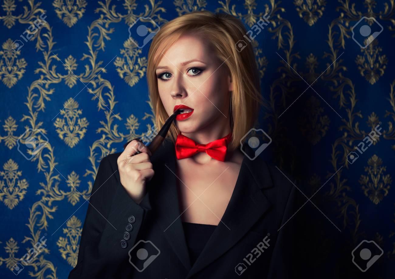 Grosse blonde pipe