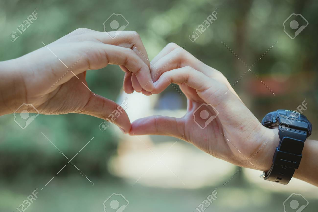 Love Heart Made With Hands
