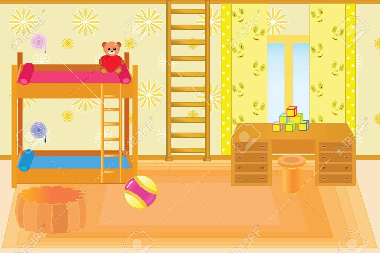 beautiful room for children in happy family Stock Vector - 16673062