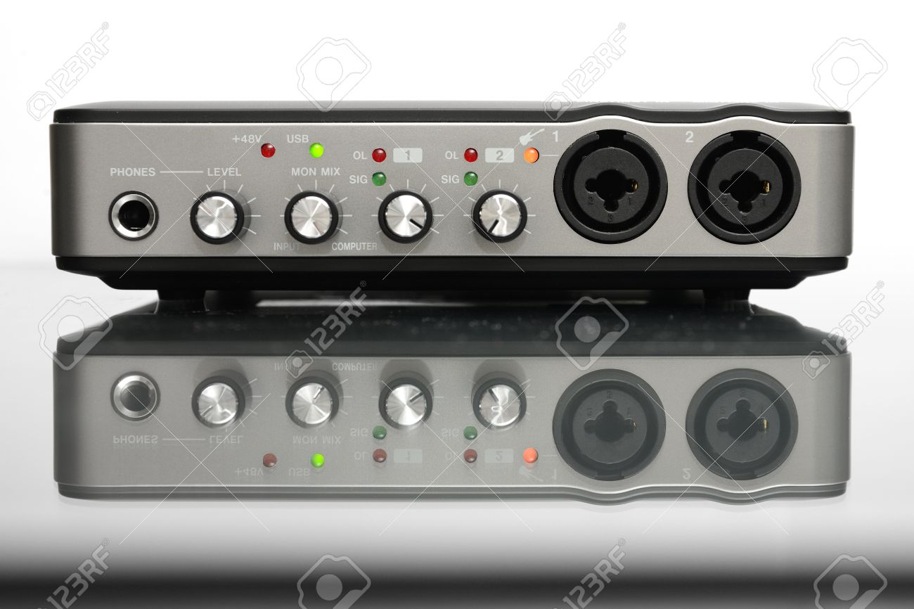 Incredible Usb Audio Interface For Home Recording Or Mixing Stock Photo Largest Home Design Picture Inspirations Pitcheantrous