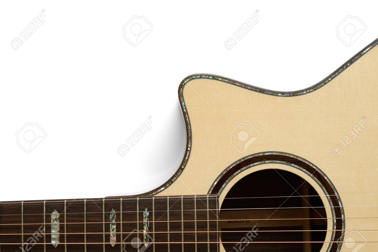 outline of acoustic cutaway guitar Stock Photo - 17546462