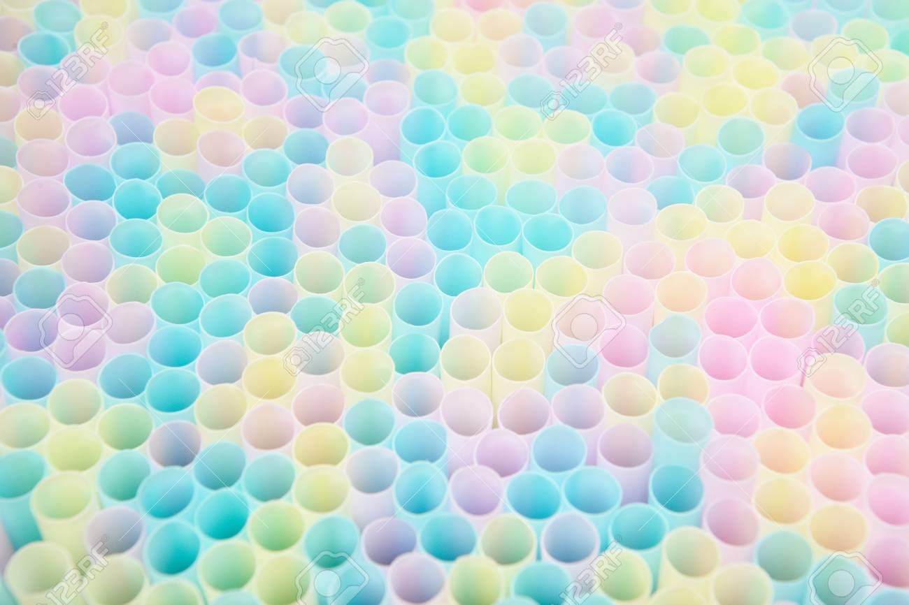colorful Top of various Straw bunch Stock Photo - 17546470