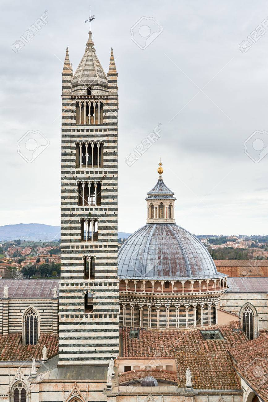 Siena Cathedral A Medieval Church Built In The Romanesque And Italian Gothic Style Between
