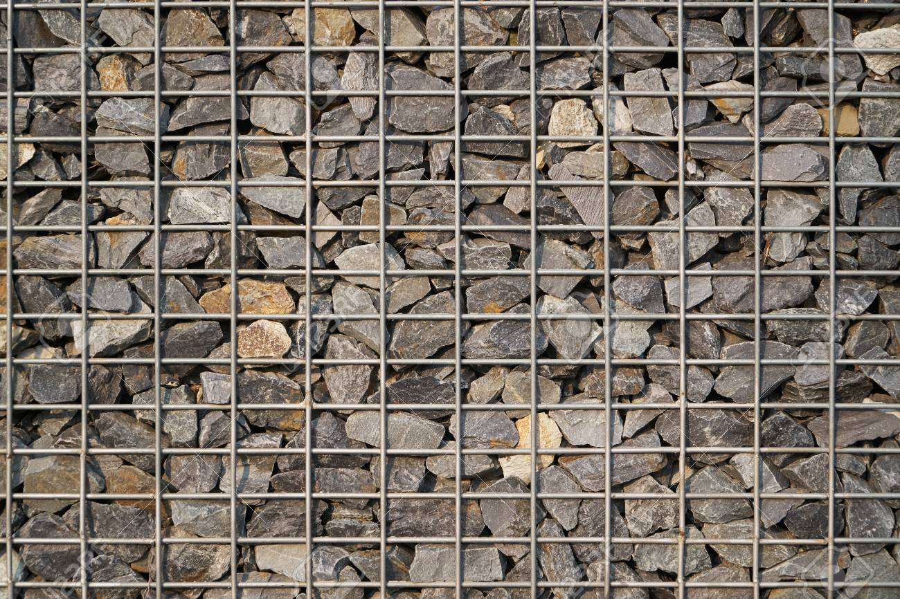 Gabion Made Of Natural Stone And Metal Wire Mesh For Construction ...