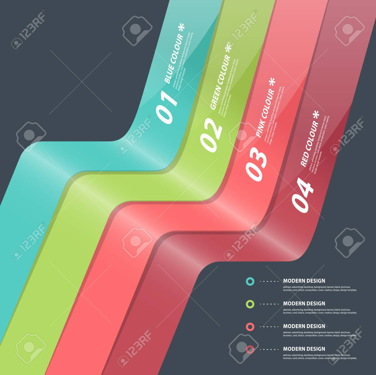 Modern Design Template Can Be Used For Infographics Numbered ...
