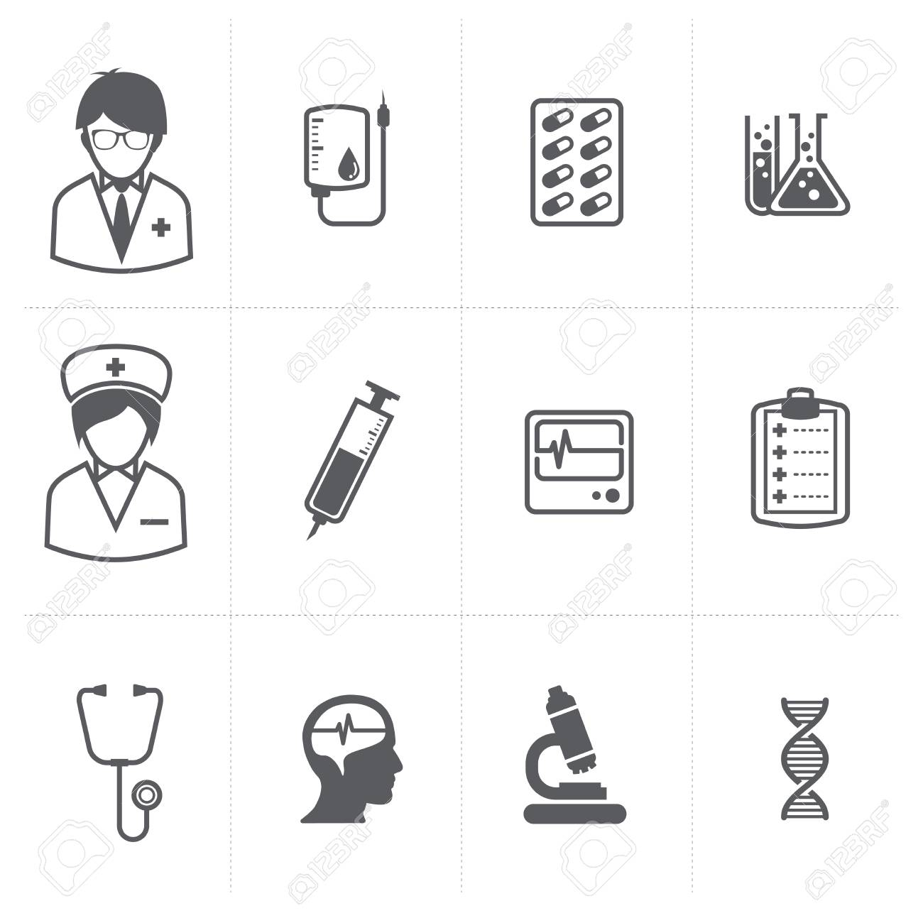 medical icons set Stock Vector - 22816981