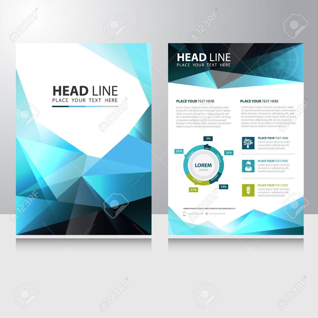 Resume Triangle Polygone Brochure Affaires Flyer Template Vecteur De