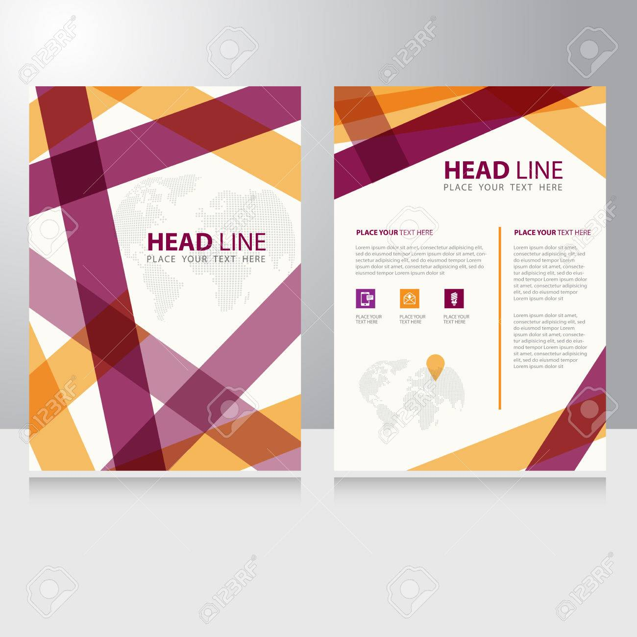 Abstract Business Internet Online Communication Brochure Flyer ...