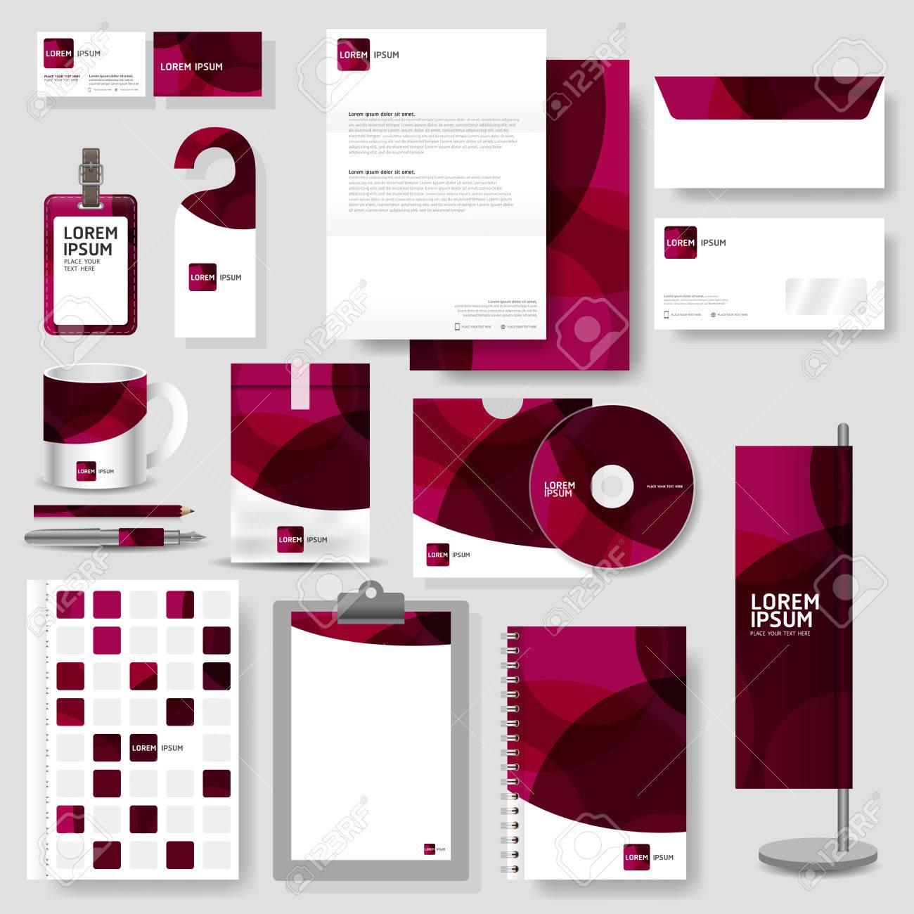 Technology Corporate Identity Template Stationery Design Set ...