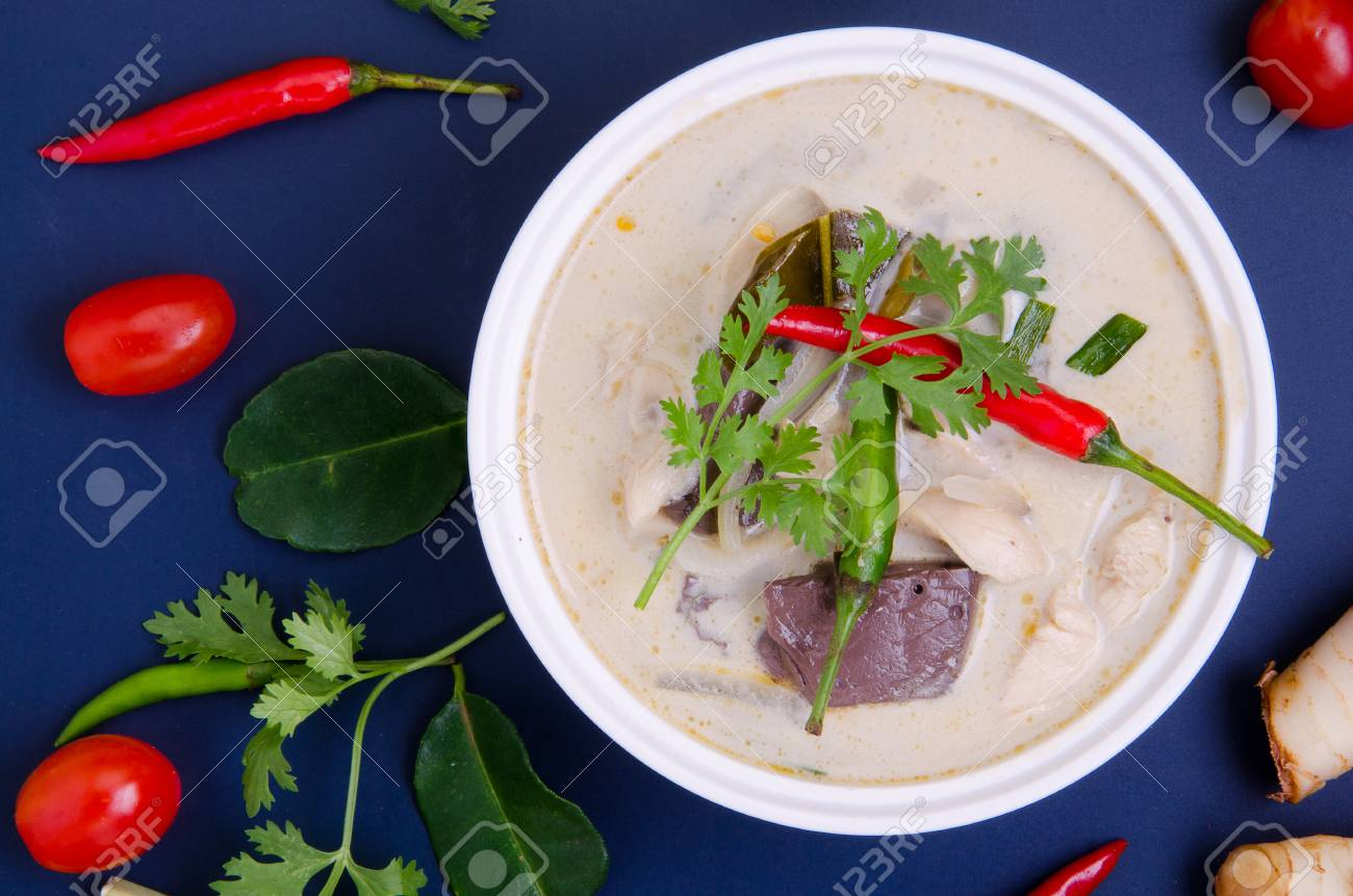 Tom kha kai or spicy chicken soup with coconut milk thai food stock photo tom kha kai or spicy chicken soup with coconut milk thai food popular recipe forumfinder Image collections