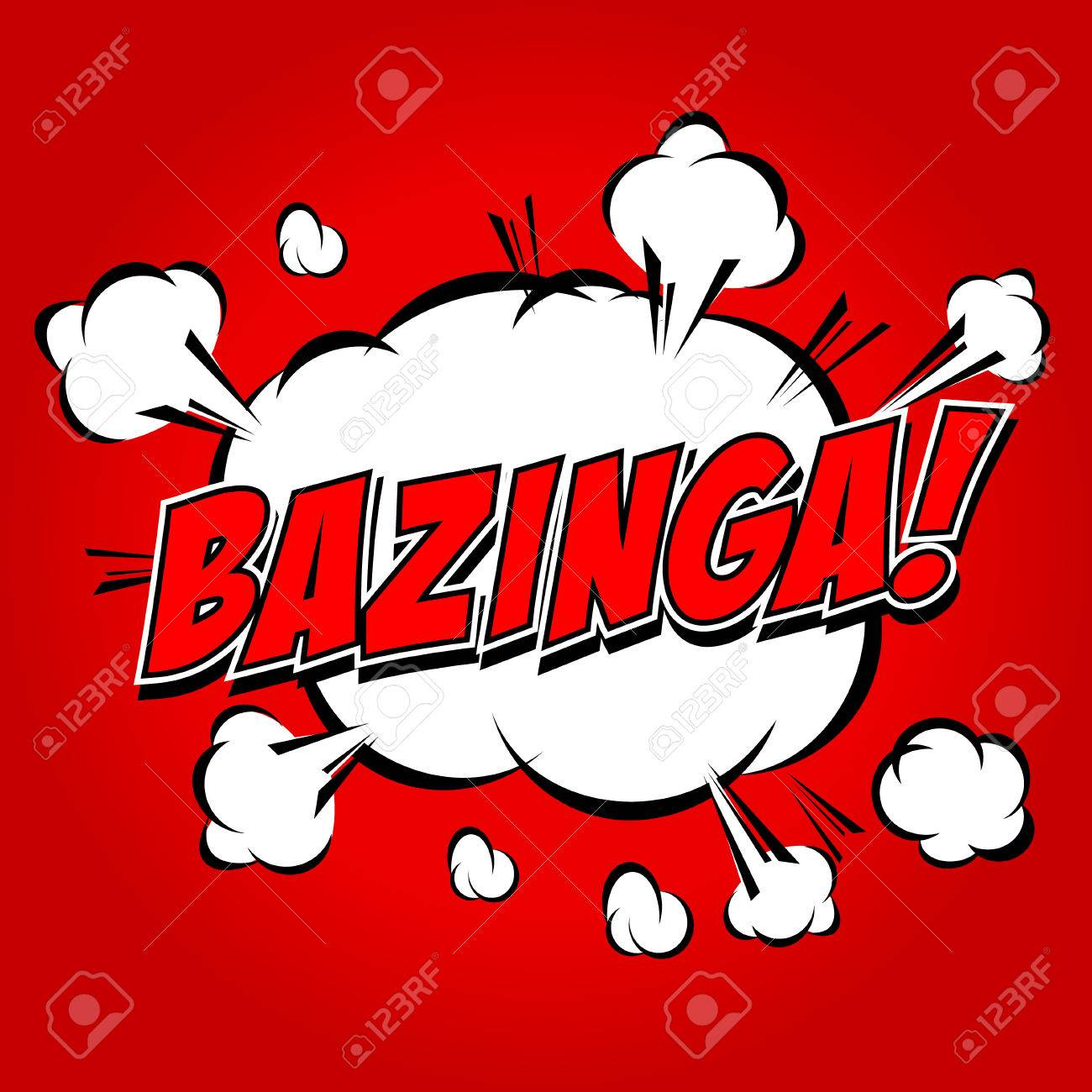 Bazinga  Comic Speech Bubble, Cartoon Stock Vector - 24969841