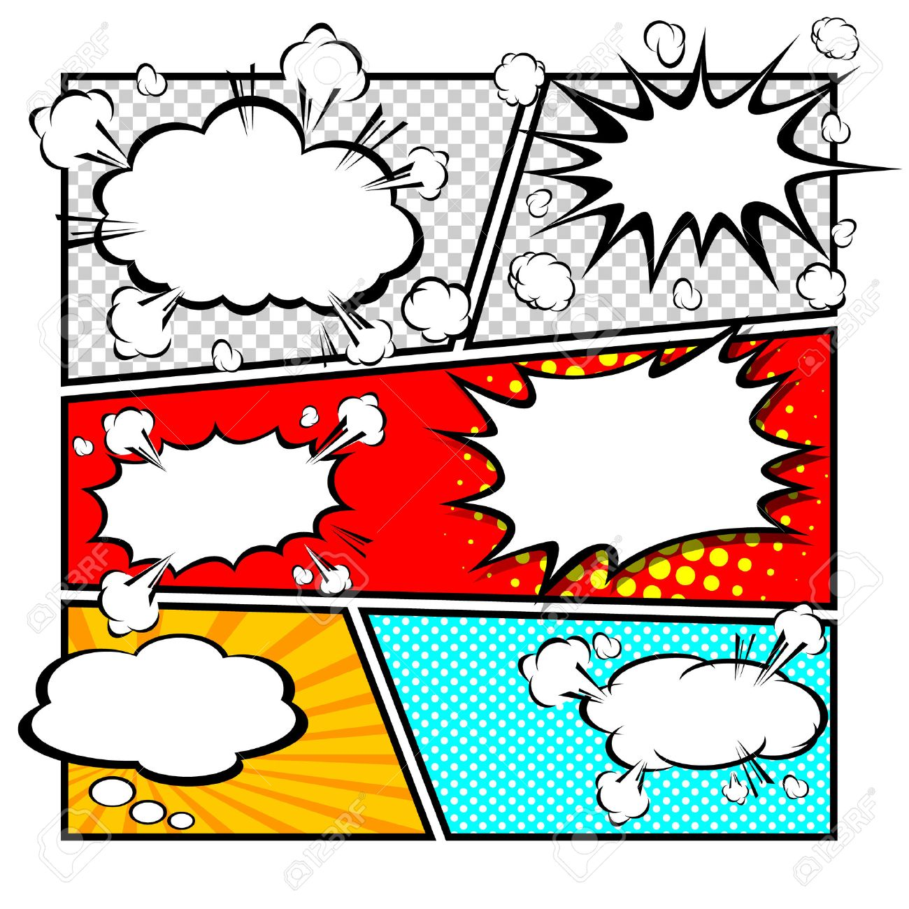 Comic Template Vector Royalty Free Cliparts, Vectors, And Stock ...