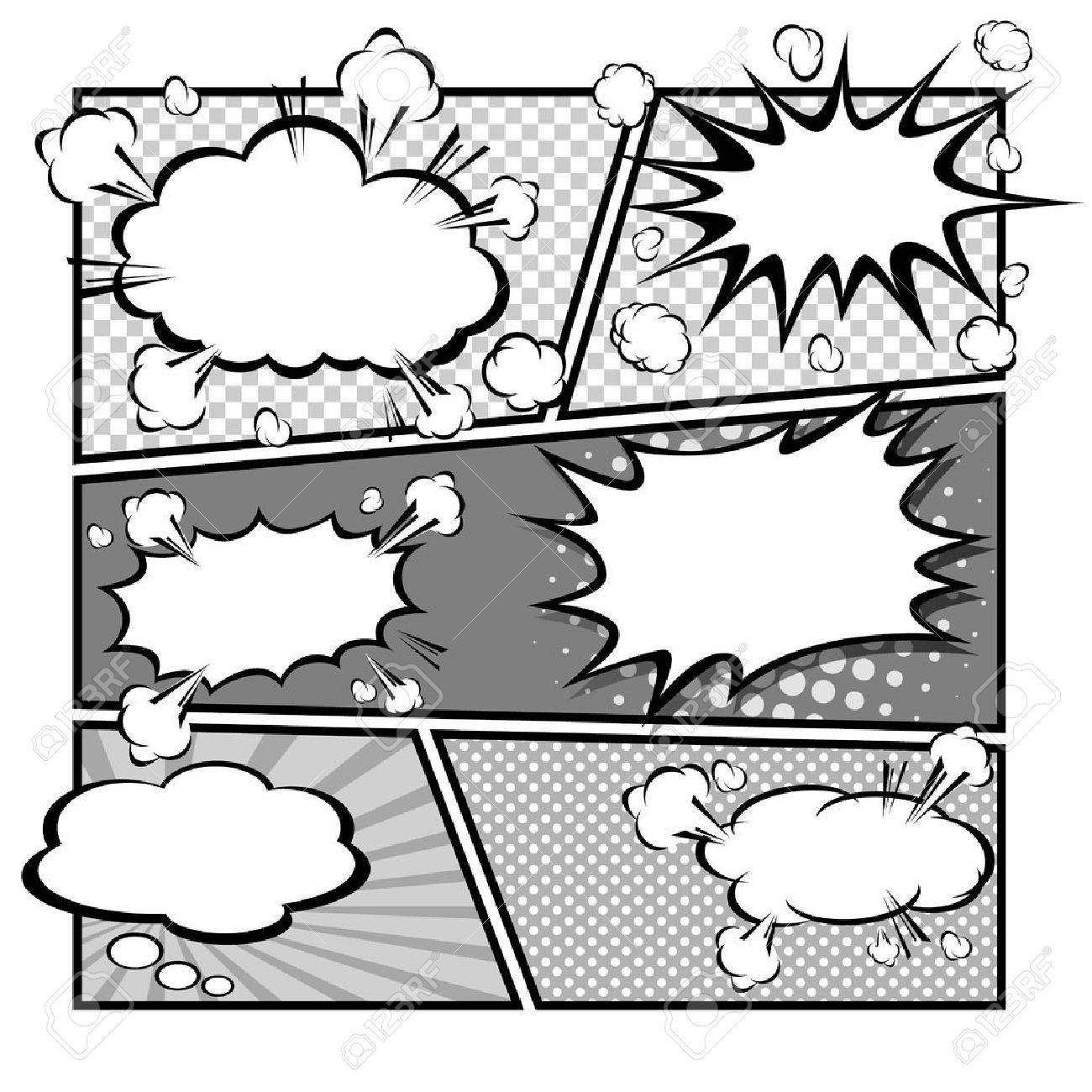 comic template vector royalty free cliparts vectors and stock