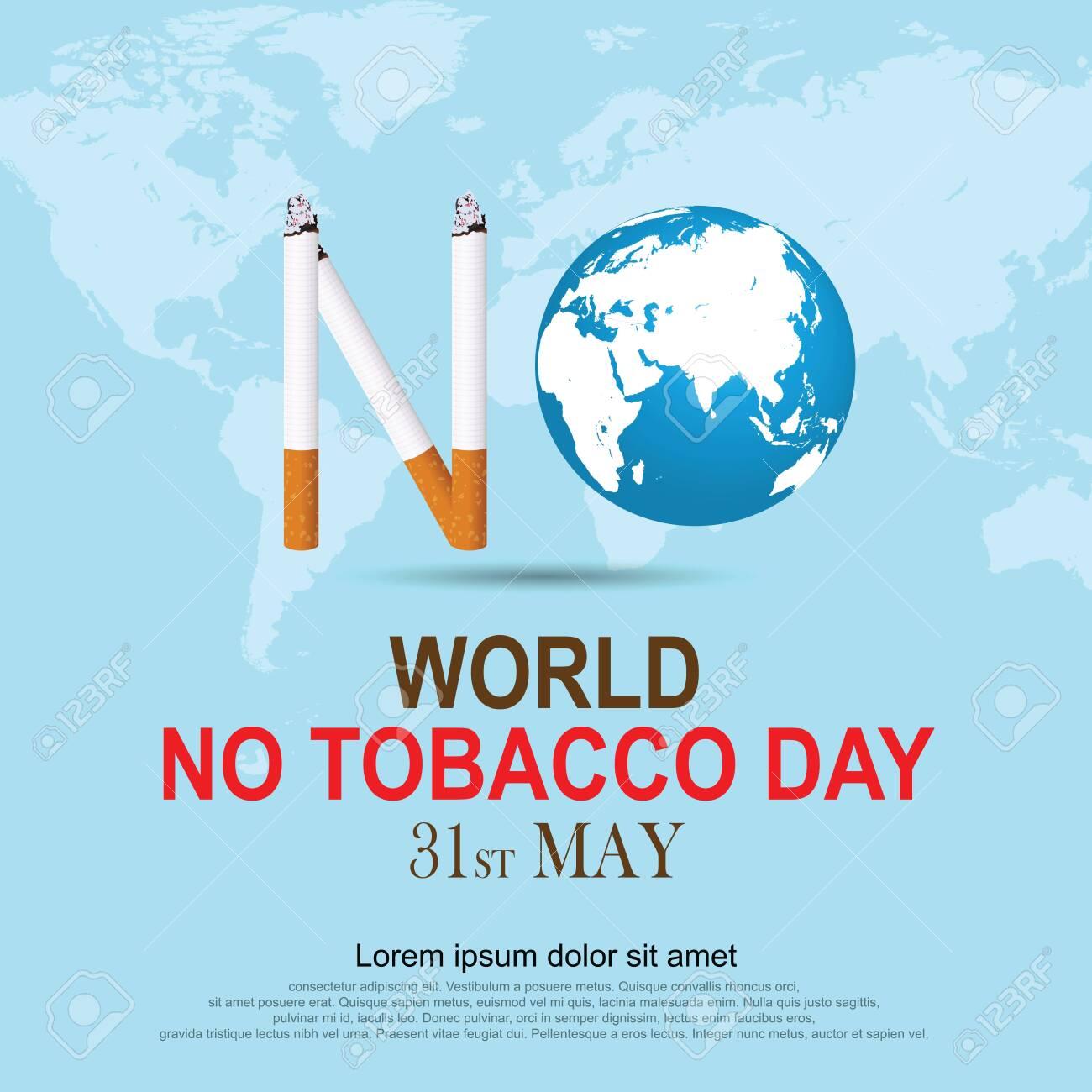 Stop Smoking. World No Tobacco Day. illustration Vector Eps 10. - 124351369