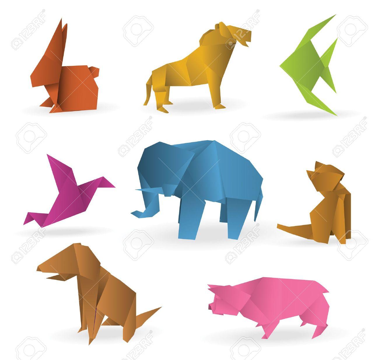 折り紙動物のイラスト素材ベクタ Image 21823178