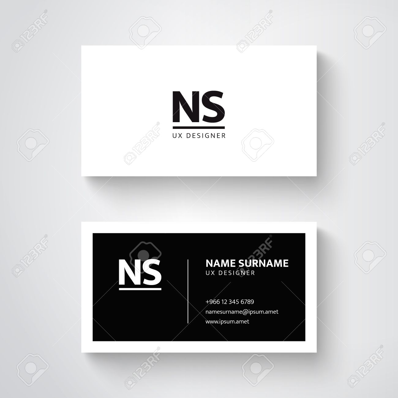 Vector simple business card template clean design royalty free vector vector simple business card template clean design wajeb Gallery
