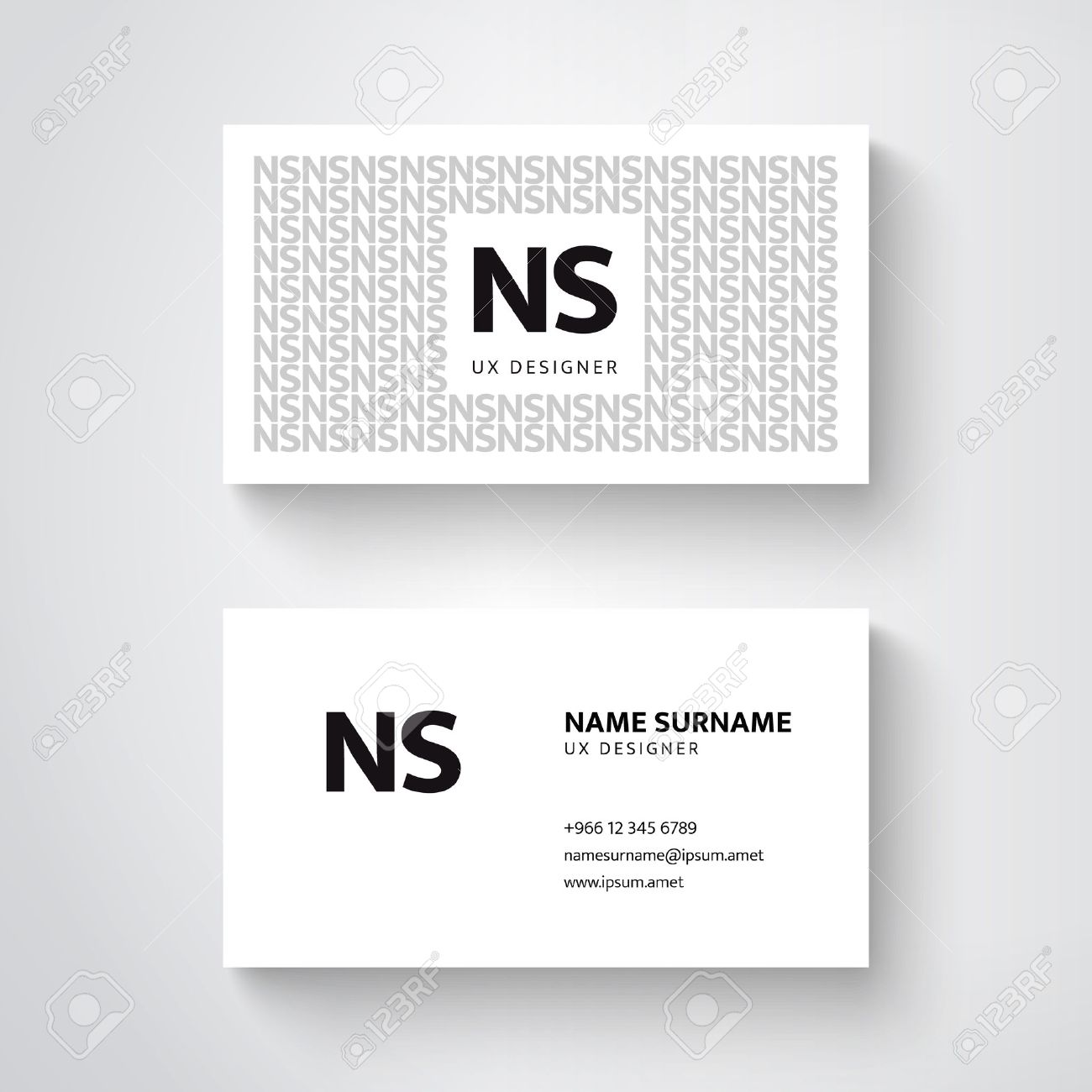 vector simple business card template clean design royalty free