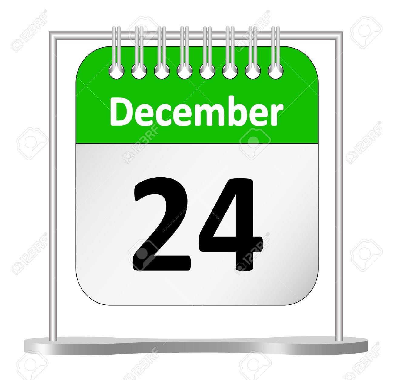 Calendar – December 24th Stock Vector - 10682525