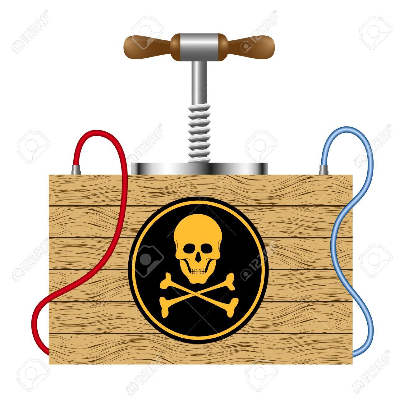 Dombs Garderobekast Wit.Bomb Detonation Cabinet With Danger Sign Skull Symbol Royalty