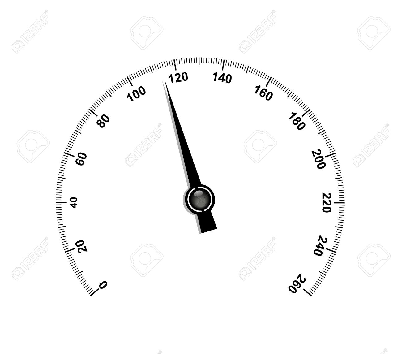 Needle speedometer Stock Vector - 12793236