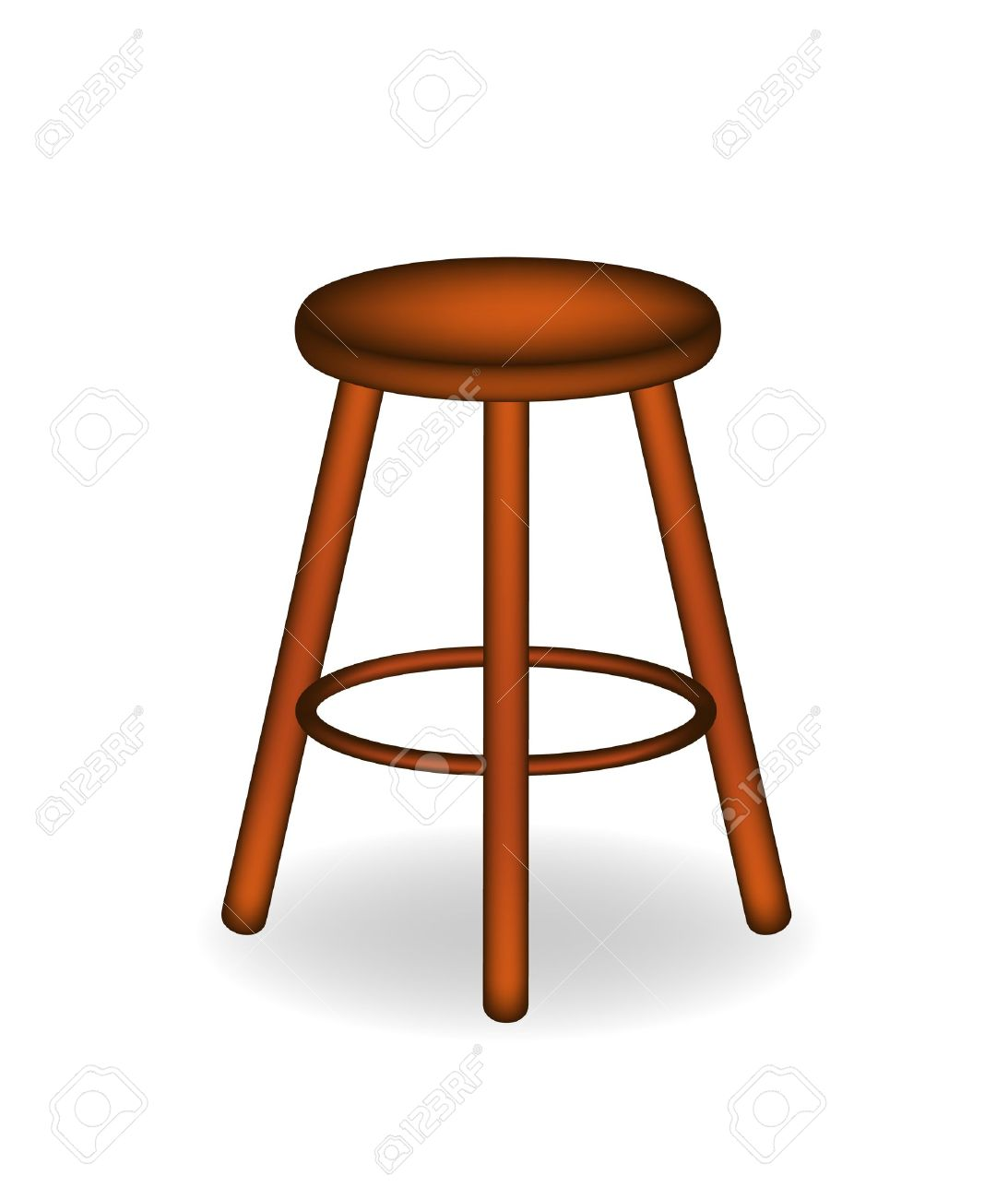 Retro wooden stool Stock Vector - 13394067