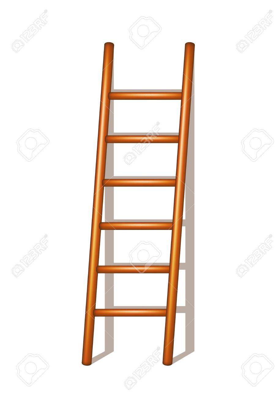Wooden ladder Stock Vector - 14465797
