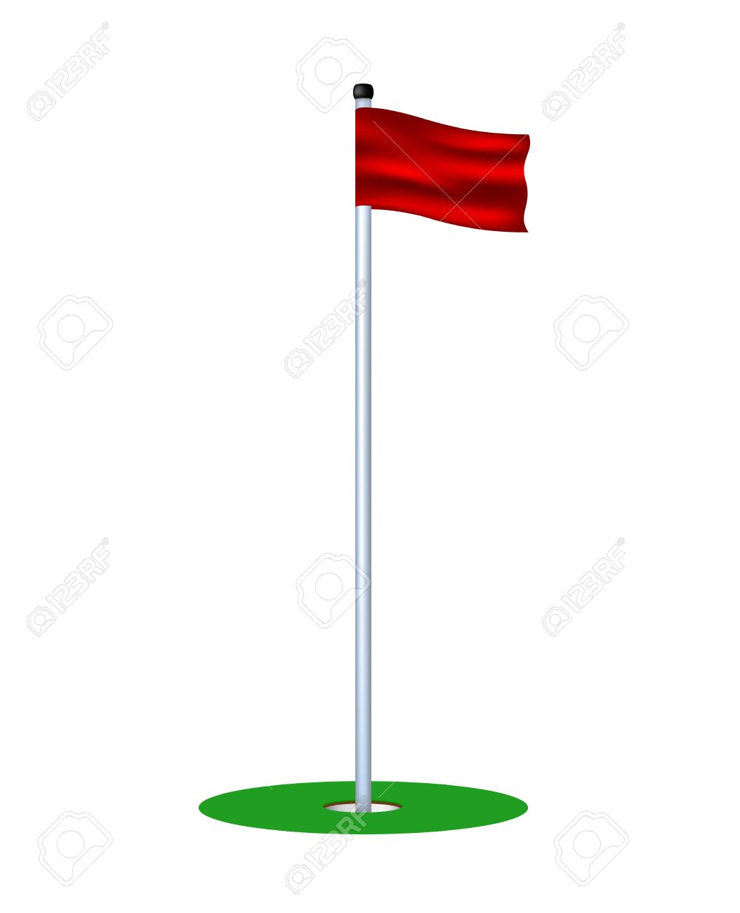 6,588 Golf Flag Stock Vector Illustration And Royalty Free Golf ...