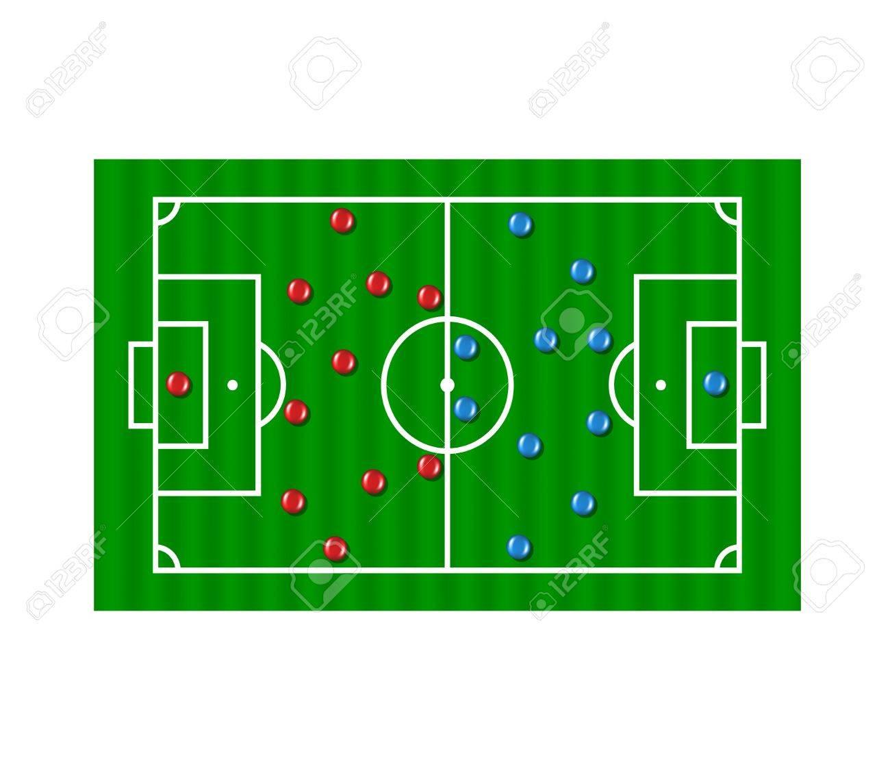 Football formation tactics Stock Vector - 15130928