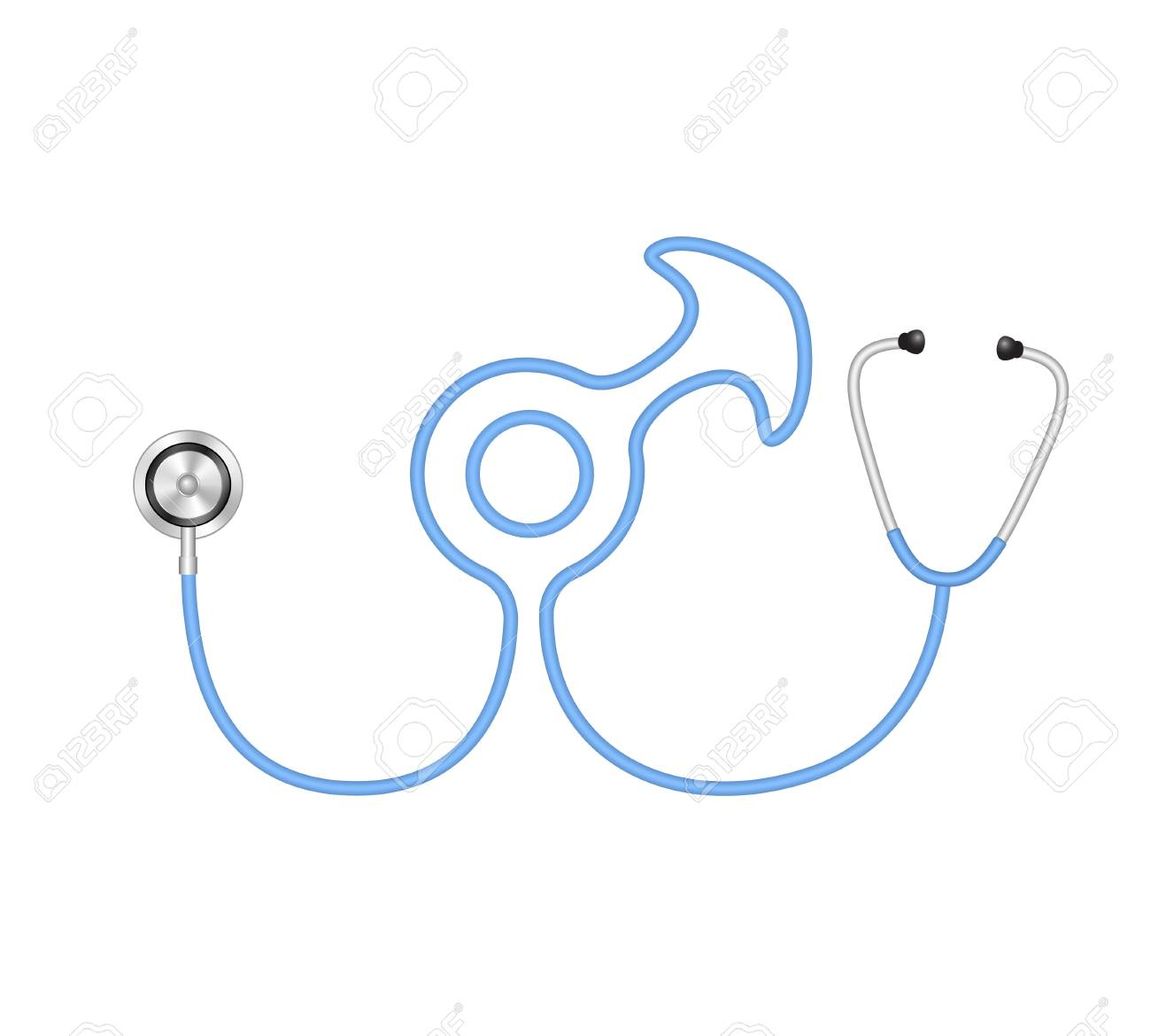 Stethoscope in shape of male symbol Stock Vector - 15967482