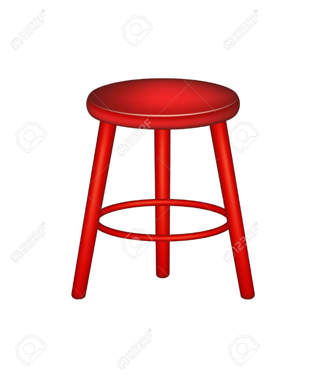 Retro wooden stool Stock Vector - 16610899