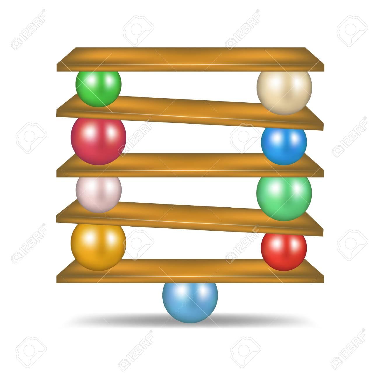 Balanced balls Stock Vector - 16932203