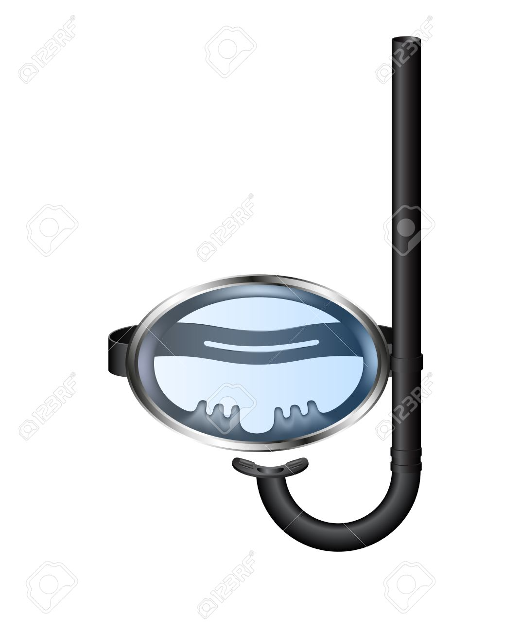 Retro diving goggles with snorkel Stock Vector - 20097421