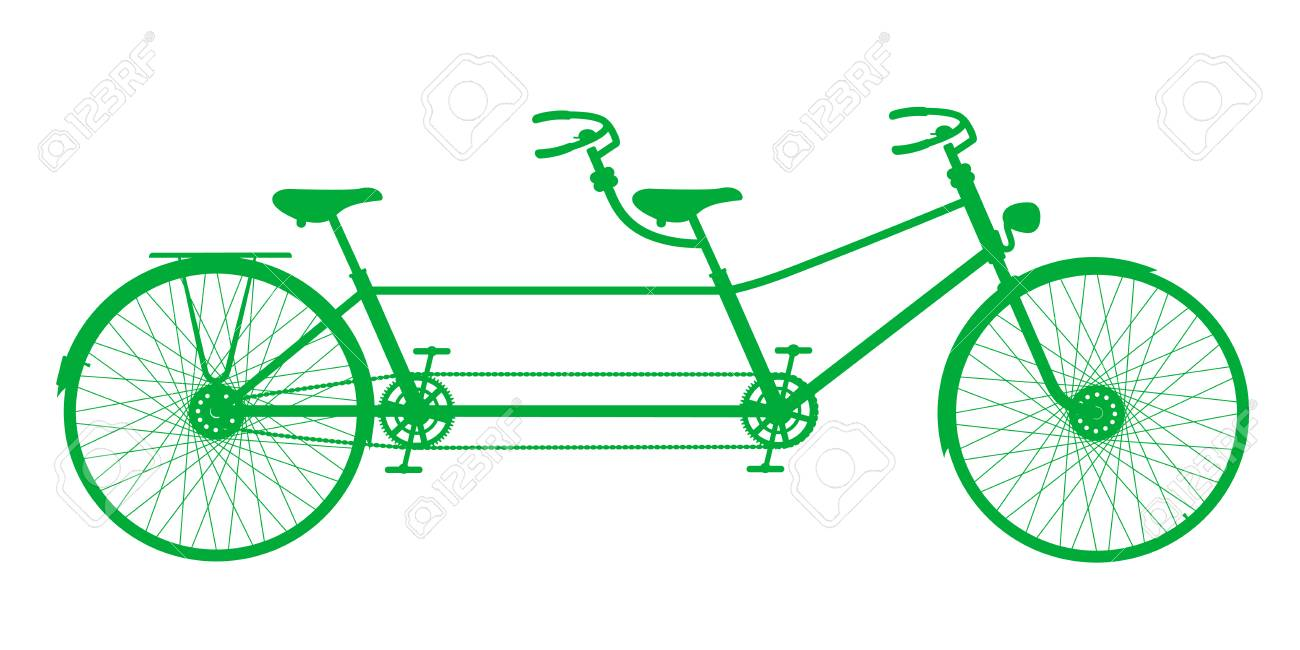 retro tandem bicycle royalty free cliparts vectors and stock rh 123rf com tandem bike clip art wedding tandem bicycle clipart