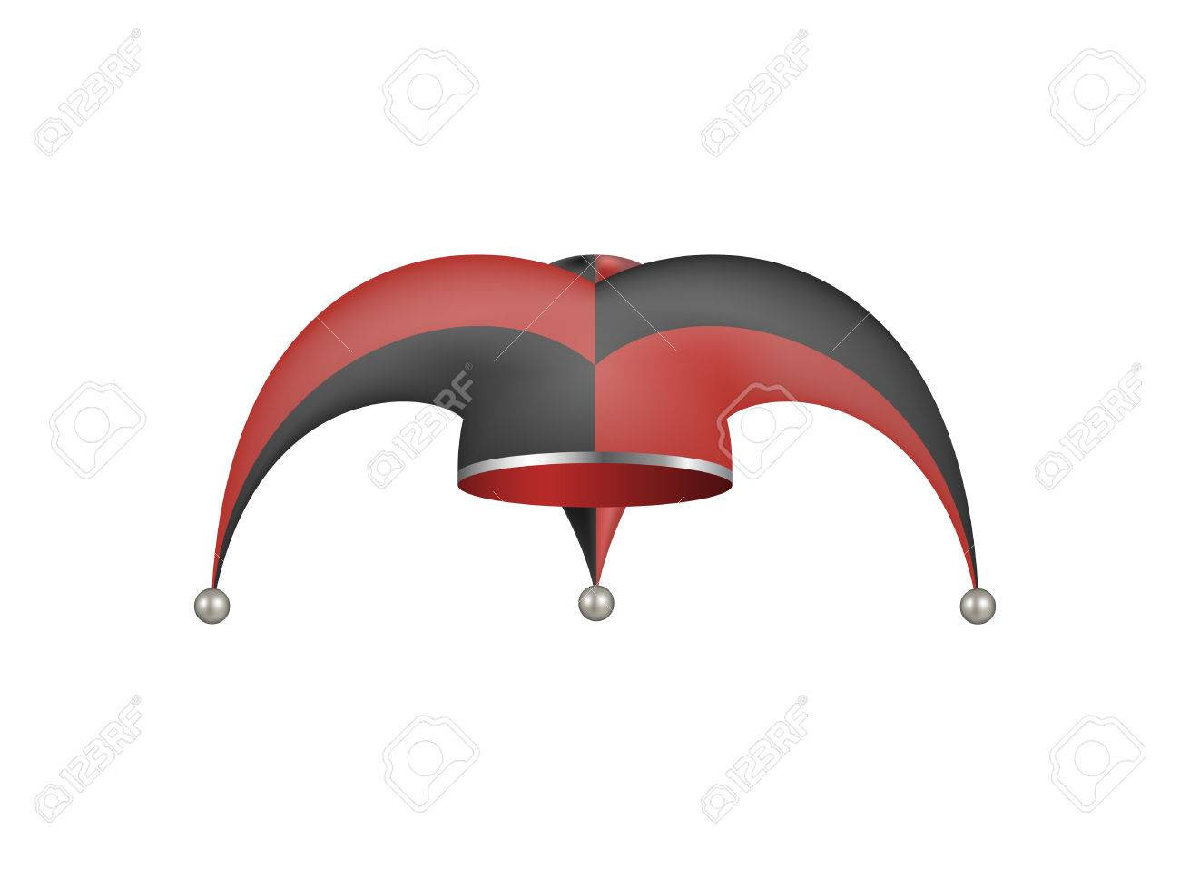 b795d186196 Jester hat in black and red design Stock Vector - 40382425