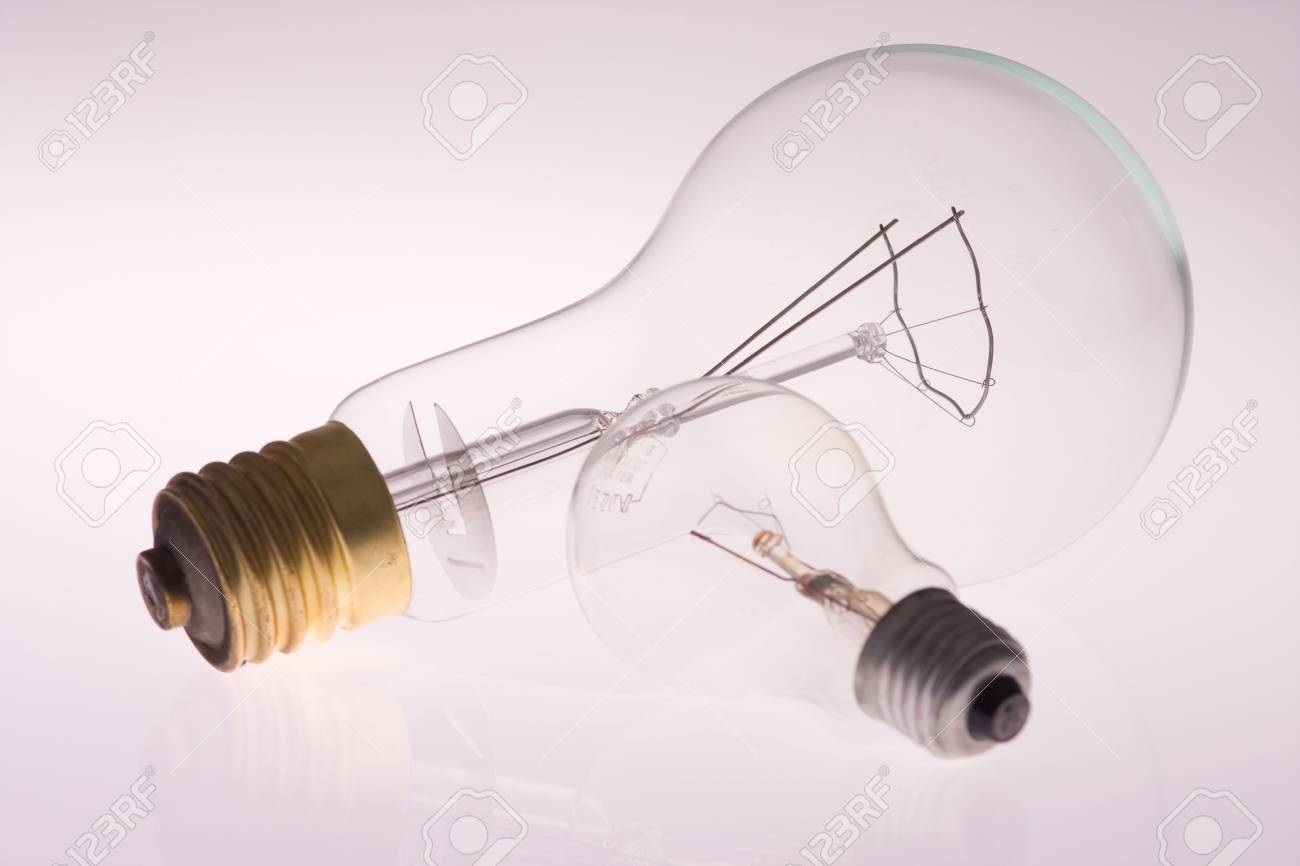 one big and one small light bulb Stock Photo - 3878571