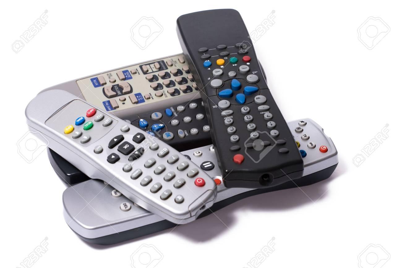 remote controls on white background Stock Photo - 5466124