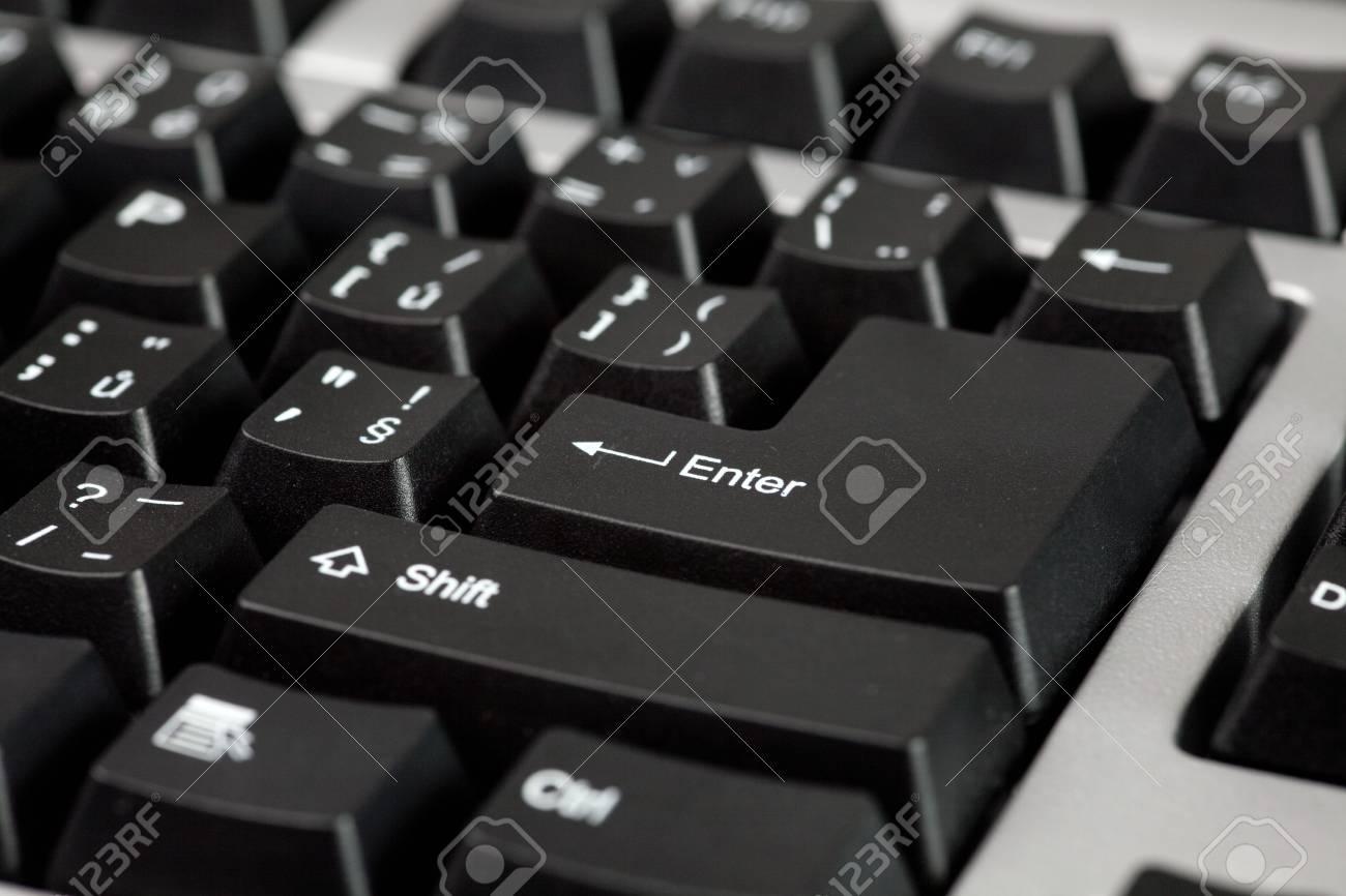 macro shot of black computer keyboard Stock Photo - 5979348