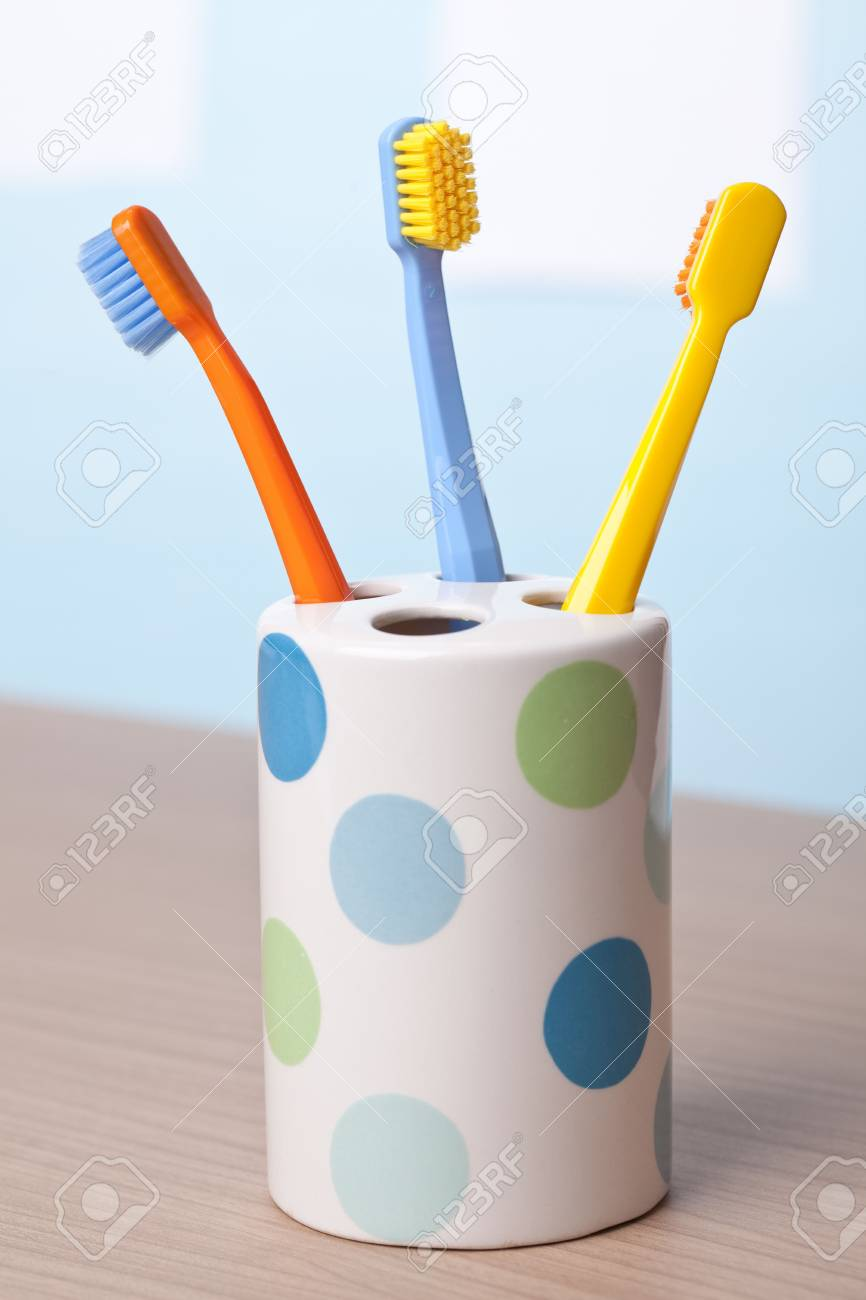 the photo shot of color toothbrushes Stock Photo - 6119104